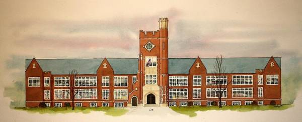 Painting - Vineland High School In The 50s by William Renzulli