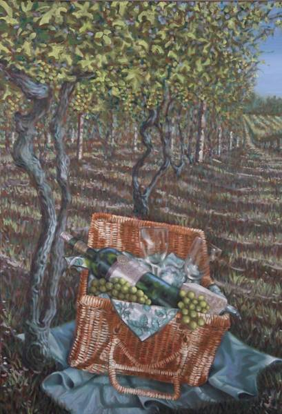 Painting - Vineyard Picnic by Gary M Long
