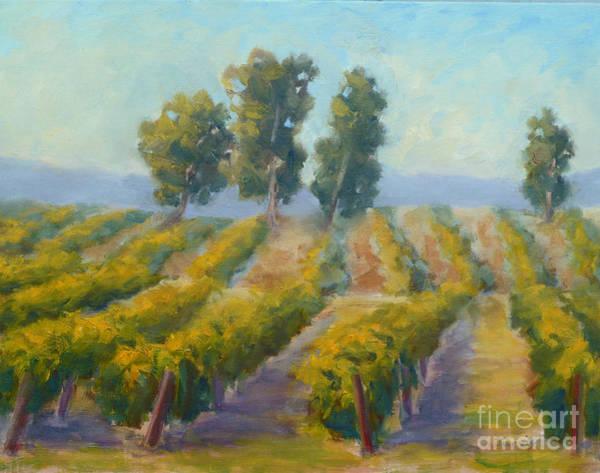 Painting - Vineyard Trees by Carolyn Jarvis