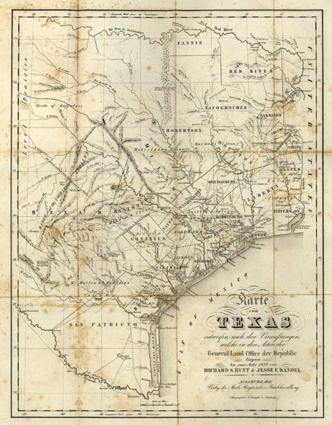 Arkansas Mixed Media - Vintage 1841 Texas Map by Dan Sproul