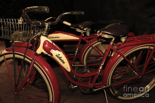 Photograph - Vintage 1941 Boys And 1946 Girls Bicycle 5d25760 Sepia2 by Wingsdomain Art and Photography