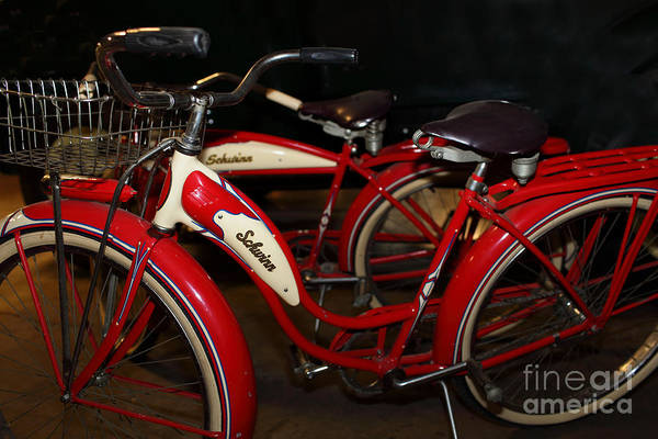 Photograph - Vintage 1941 Boys And 1946 Girls Bicycle 5d25760 by Wingsdomain Art and Photography