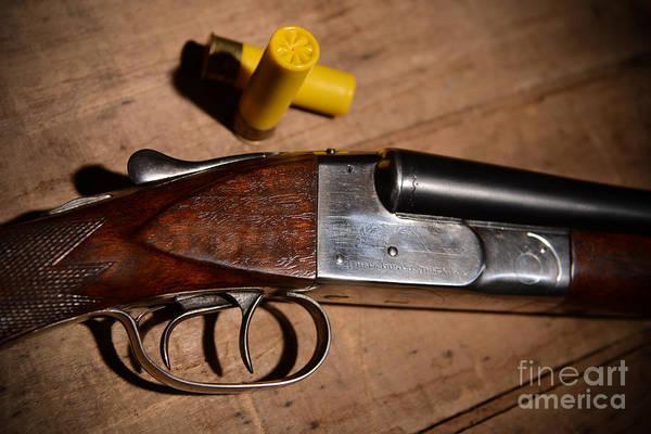 Wall Art - Photograph - Vintage 20 Gauge Double Barrel Shotgun by Jt PhotoDesign