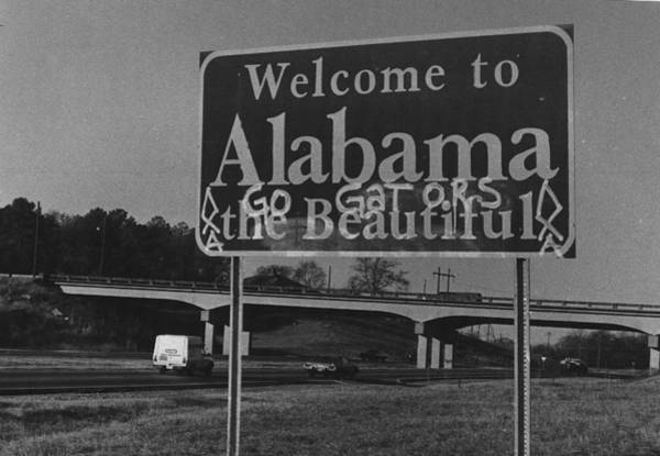 Wall Art - Photograph - Vintage Alabama Florida Football Sign by Retro Images Archive