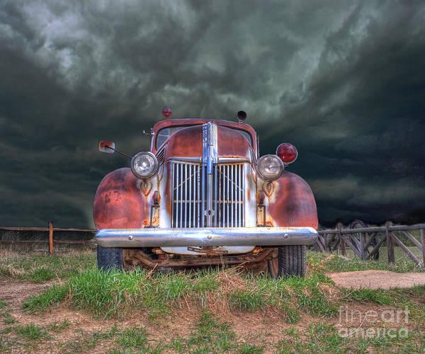 Wall Art - Photograph - Vintage American Lafrance Fire Truck by Juli Scalzi
