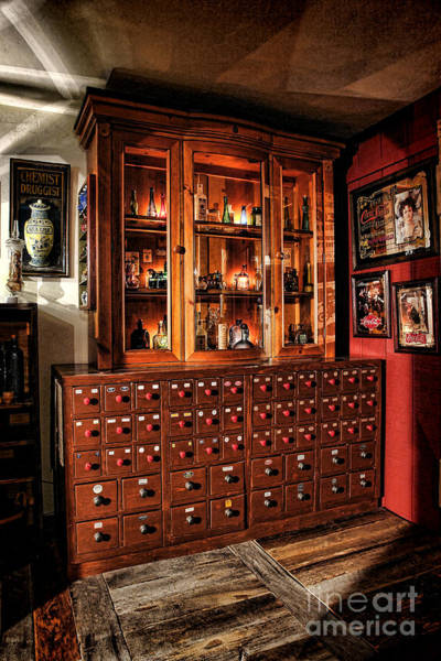 Photograph - Vintage Apothecary Case by Olivier Le Queinec