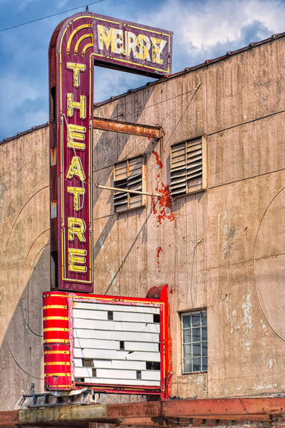 Photograph - Vintage Art Deco Theatre Marquee - Perry Georgia by Mark Tisdale
