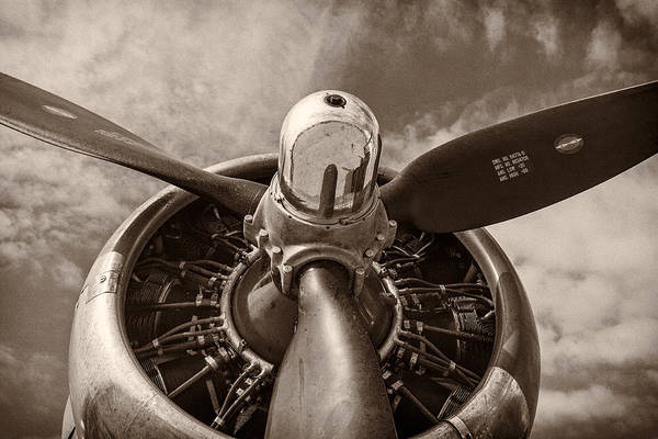 Military Photograph - Vintage B-17 by Adam Romanowicz
