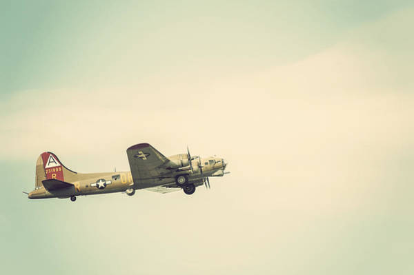 Photograph - Vintage B-17 Flying Fortress by Terry DeLuco