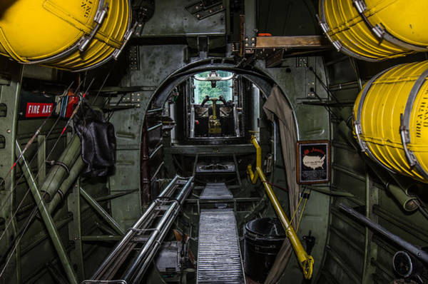 B24 Photograph - Vintage B24 Bomber Interior by Puget  Exposure