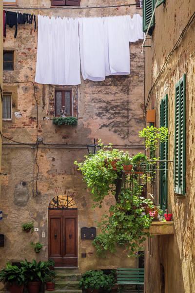 Suburbs Photograph - Vintage Balcony On The Street In Italy by Shaiith