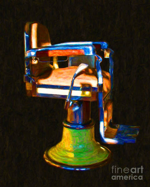 Photograph - Vintage Barber Chair - 20130119 - V1 by Wingsdomain Art and Photography
