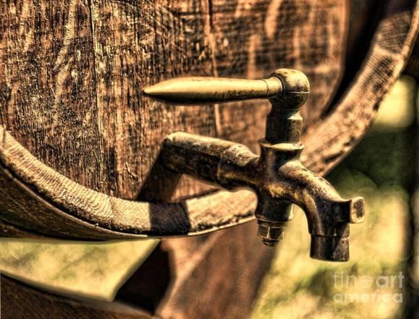 Faucet Photograph - Vintage Barrel Tap by Paul Ward
