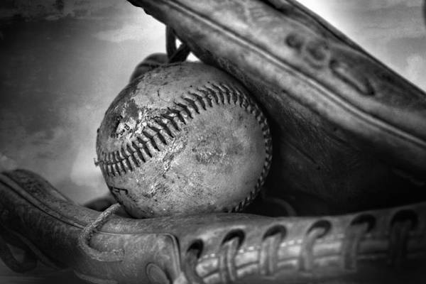Photograph - Vintage Baseball And Glove by Dan Sproul