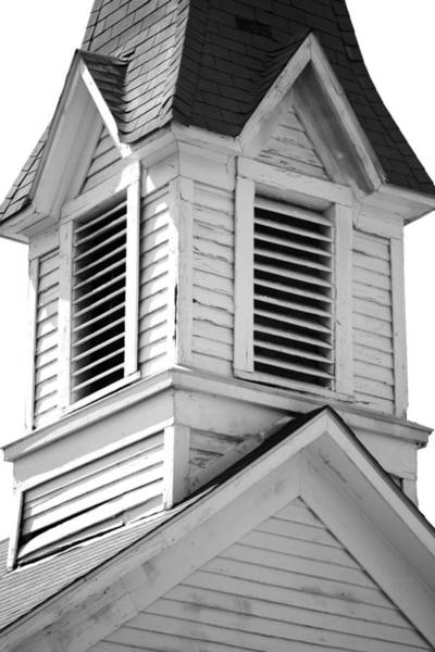 Wall Art - Photograph - Vintage Belfry. Liberty Baptist Church 1900. Independence Texas by Connie Fox