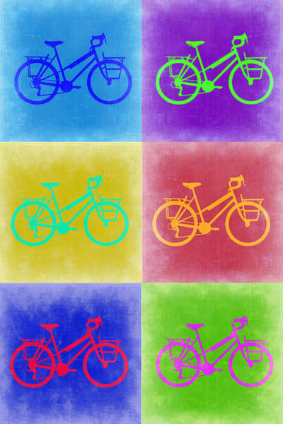 Bike Digital Art - Vintage Bicycle Pop Art 2 by Naxart Studio