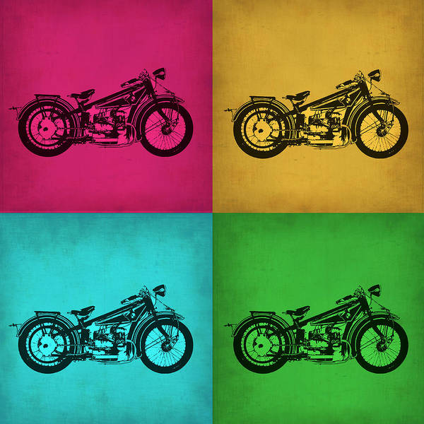 Wall Art - Painting - Vintage Bike Pop Art 1 by Naxart Studio