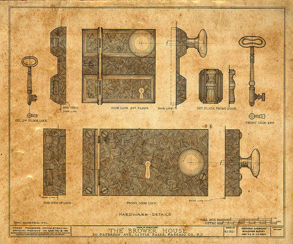 Photograph - Vintage Blueprints 2 by Andrew Fare