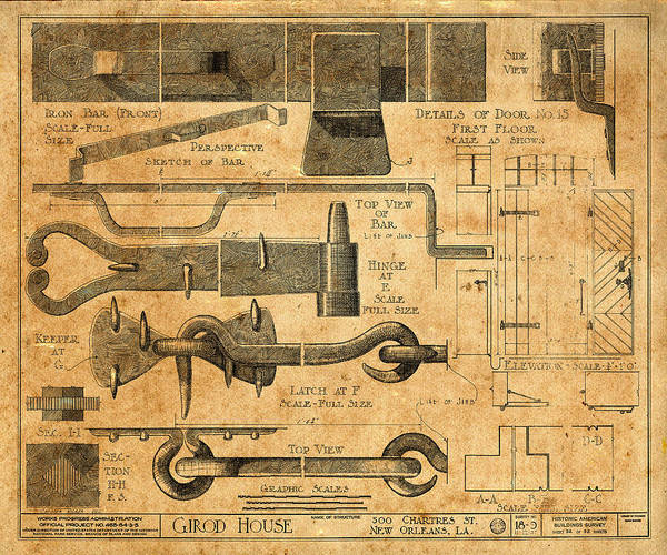Photograph - Vintage Blueprints 6 by Andrew Fare