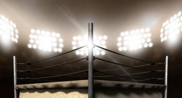 Ring Digital Art - Vintage Boxing Ring In Arena by Allan Swart