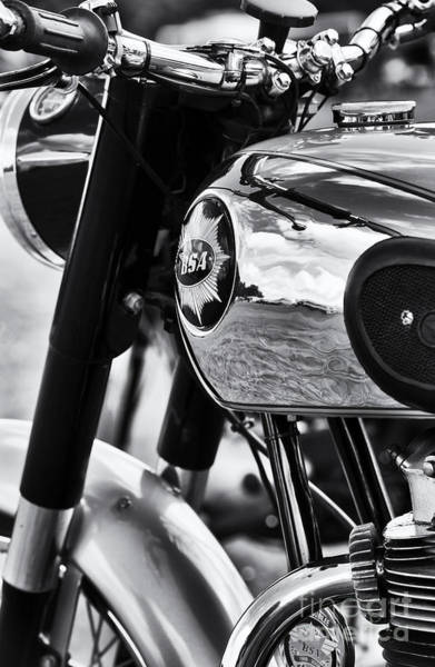 Photograph - Vintage Bsa Monochrome  by Tim Gainey