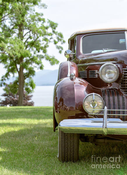 Lake George Photograph - Vintage Caddy At Lake George by Edward Fielding