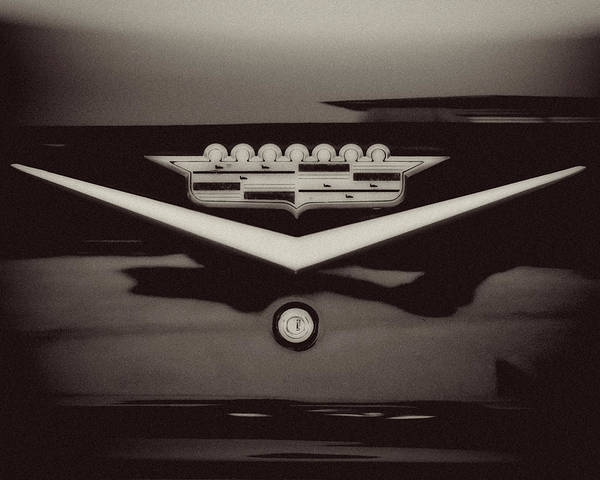 Lisa Russo Wall Art - Photograph - Vintage Cadillac Emblem by Lisa Russo