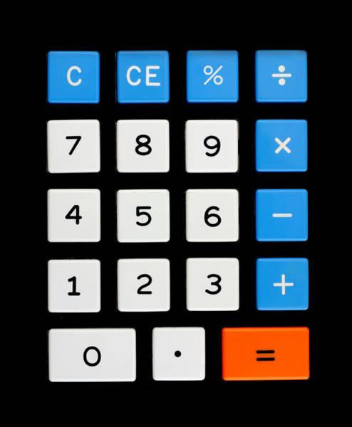 Photograph - Vintage Calculator Keypad by Jim Hughes