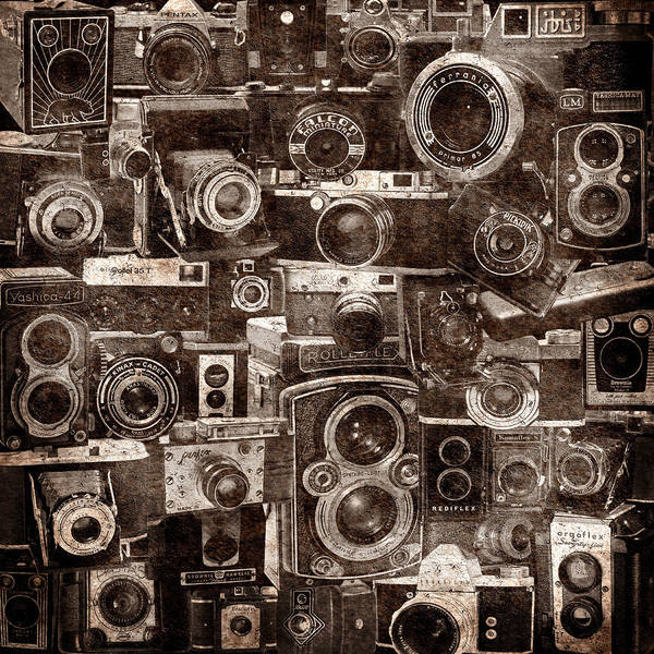 Photograph - Vintage Camera Montage 2 by Andrew Fare