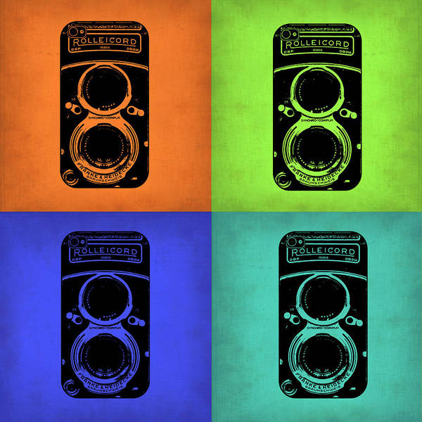 Camera Wall Art - Painting - Vintage Camera Pop Art 1 by Naxart Studio