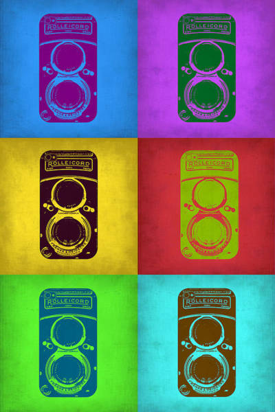 Camera Wall Art - Painting - Vintage Camera Pop Art 2 by Naxart Studio