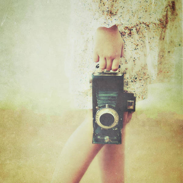 Casual Photograph - Vintage Camera Portrait by Carol Yepes