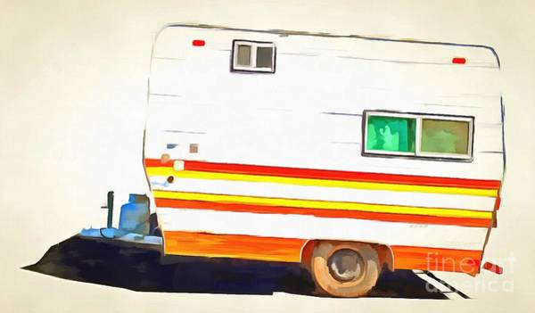 Wall Art - Photograph - Vintage Camping Trailer Pop by Edward Fielding