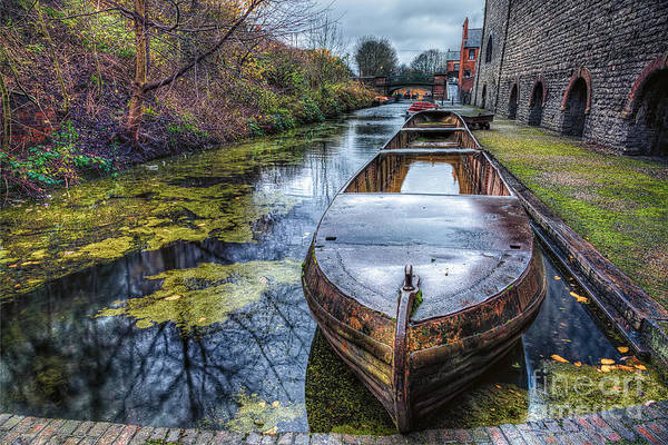 Narrow Boat Wall Art - Photograph - Vintage Canal Boat by Adrian Evans