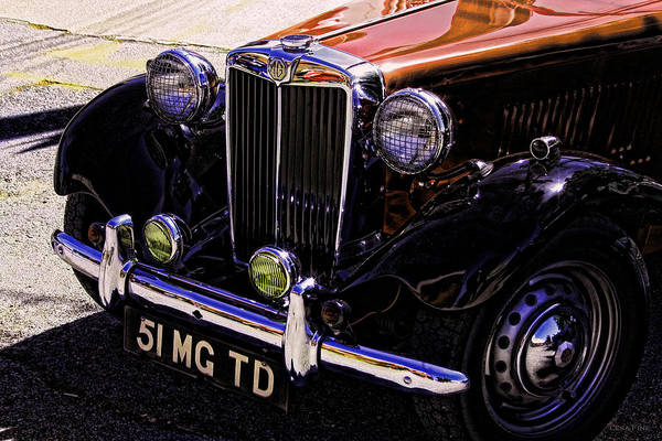 Vintage Car Art 51 Mg Td Copper Art Print
