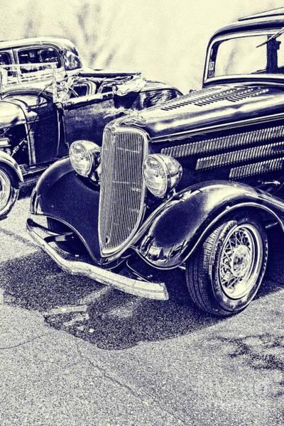 Photograph - Vintage Ford Art Blueprint Nbr 161 by Lesa Fine