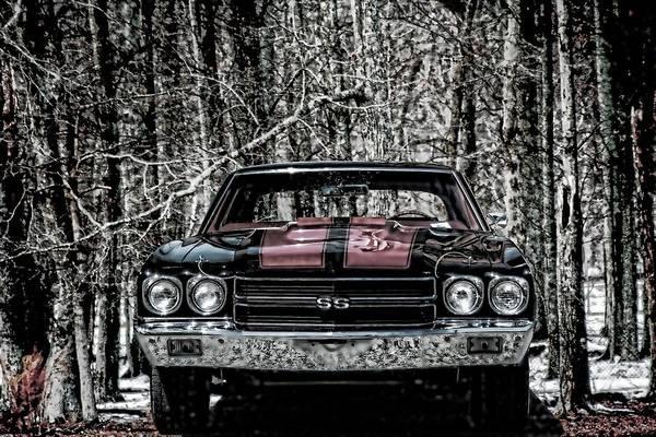 Photograph - Vintage Car Art Chevy Chevelle Ss Selective by Lesa Fine