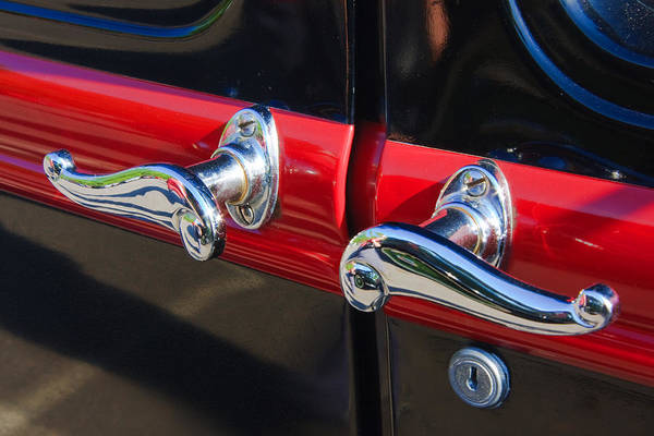 Photograph - Vintage Car Chrome by Susan Leonard