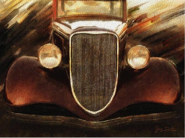 Digital Art - Vintage Car by Gary De Capua