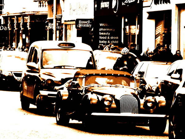 Wall Art - Photograph - Vintage Car In London  by Funkpix Photo Hunter