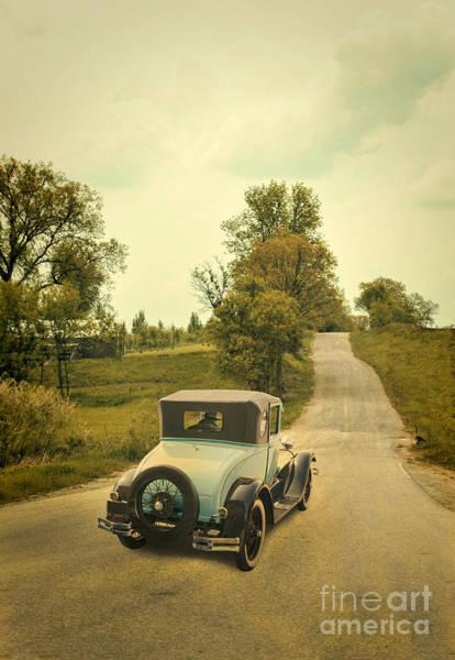 Outing Photograph - Vintage Car On A Rural Road by Jill Battaglia