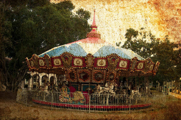 Photograph - Vintage Carousel by Pete Rems