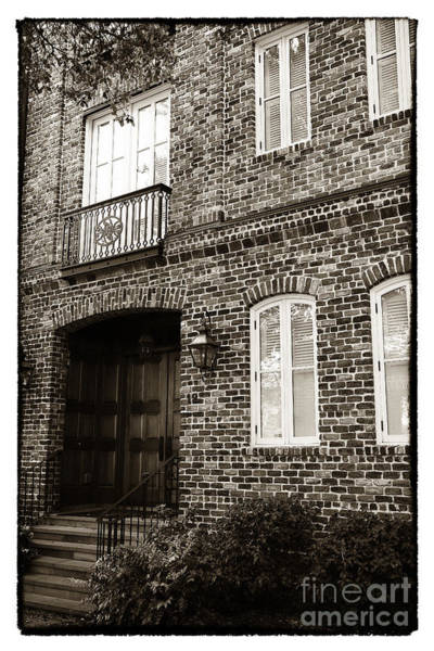 Photograph - Vintage Charleston House by John Rizzuto