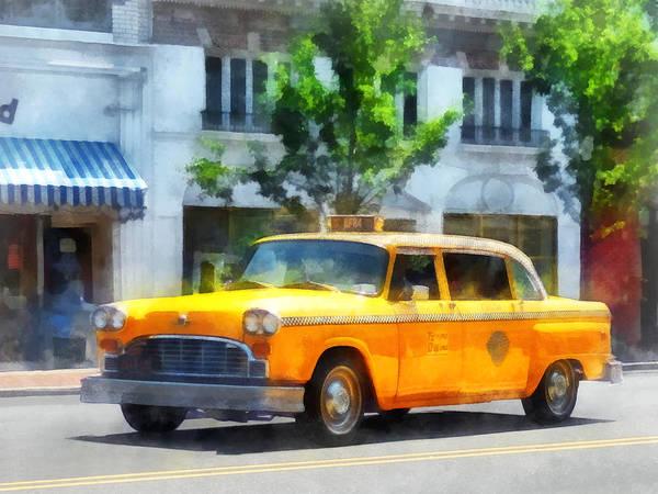 Photograph - Vintage Checkered Cab by Susan Savad