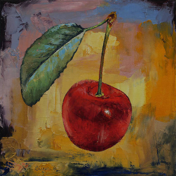 Ruby Wall Art - Painting - Vintage Cherry by Michael Creese