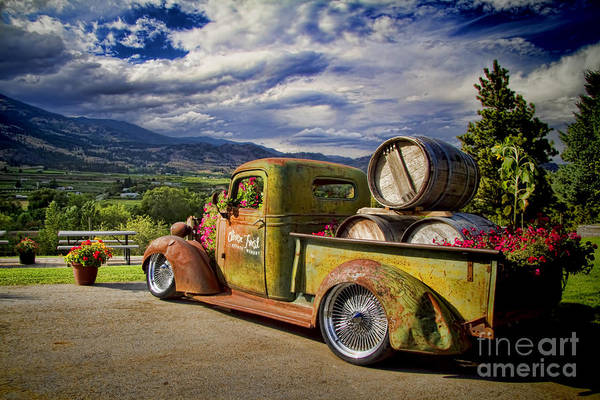 Wine Barrels Photograph - Vintage Chevy Truck At Oliver Twist Winery by David Smith