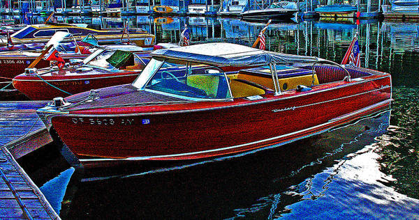 Photograph - Vintage Chris Craft Gathering 2013 by Joseph Coulombe