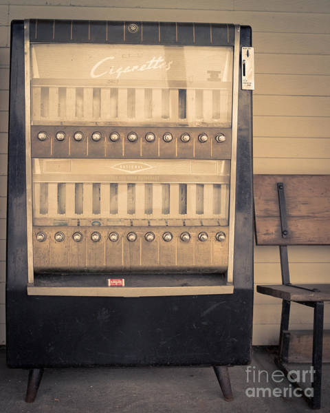 Wall Art - Photograph - Vintage Cigarette Machine by Edward Fielding