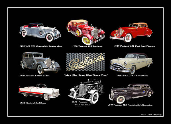 Wi Painting - Poster Of Classic Packards by Jack Pumphrey