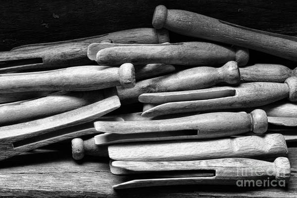 Ward Photograph - Vintage Clothespins by Paul Ward